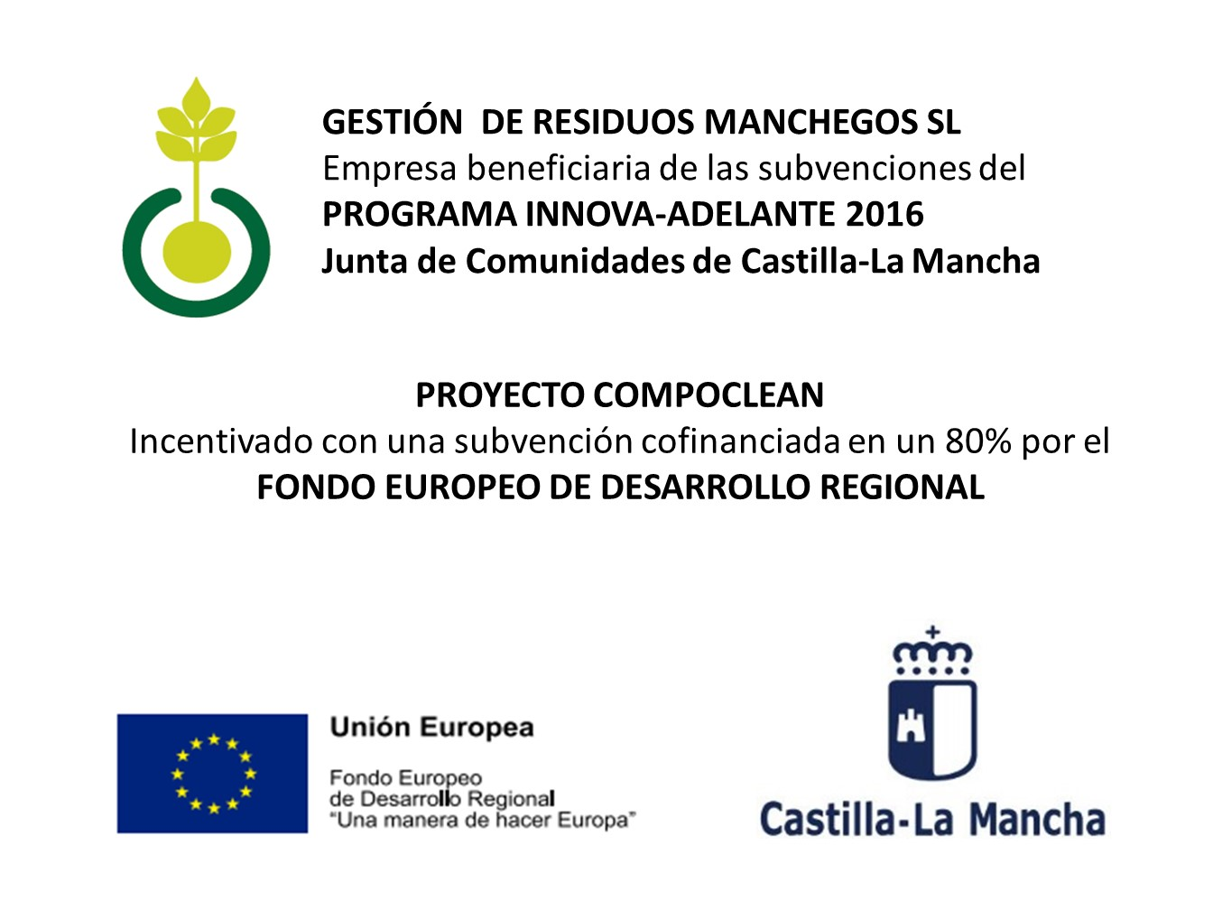 cartel proyecto compoclean